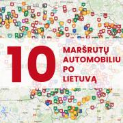 10 maršrutų automobiliu