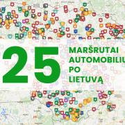 25 maršrutai po Lietuvą
